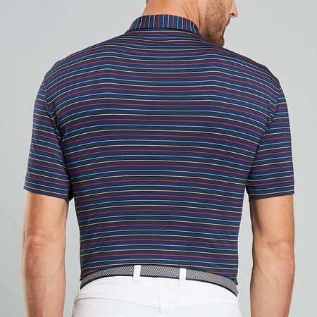Multi Stripe Stretch Jersey Polo