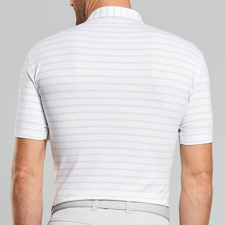 Double Stripe Stretch Jersey Polo