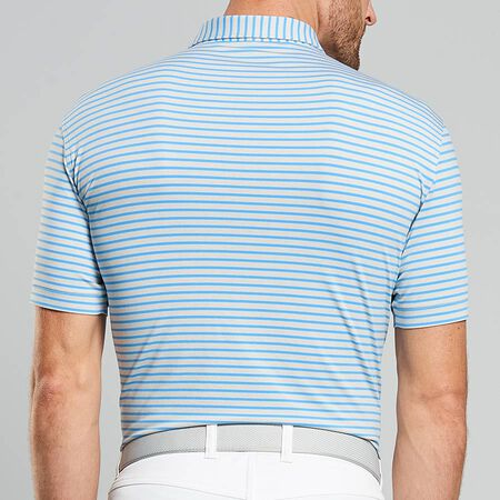 Dual Color Stripe Stretch Jersey Polo