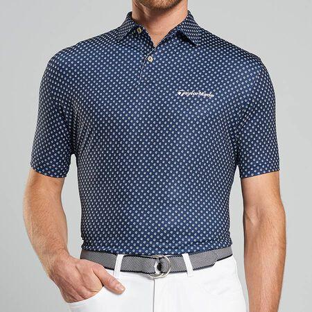Print Stretch Jersey Polo