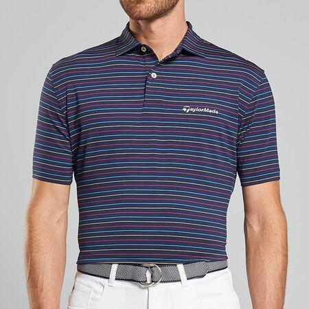 Multi Stripe Stretch Jersey Polo