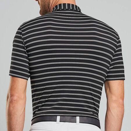 Double Stripe Stretch Jersey Polo