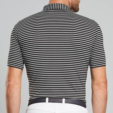 Dual Color Stripe Stretch Jersey Polo