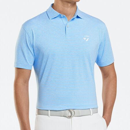 Stripe Stretch Jersey Polo