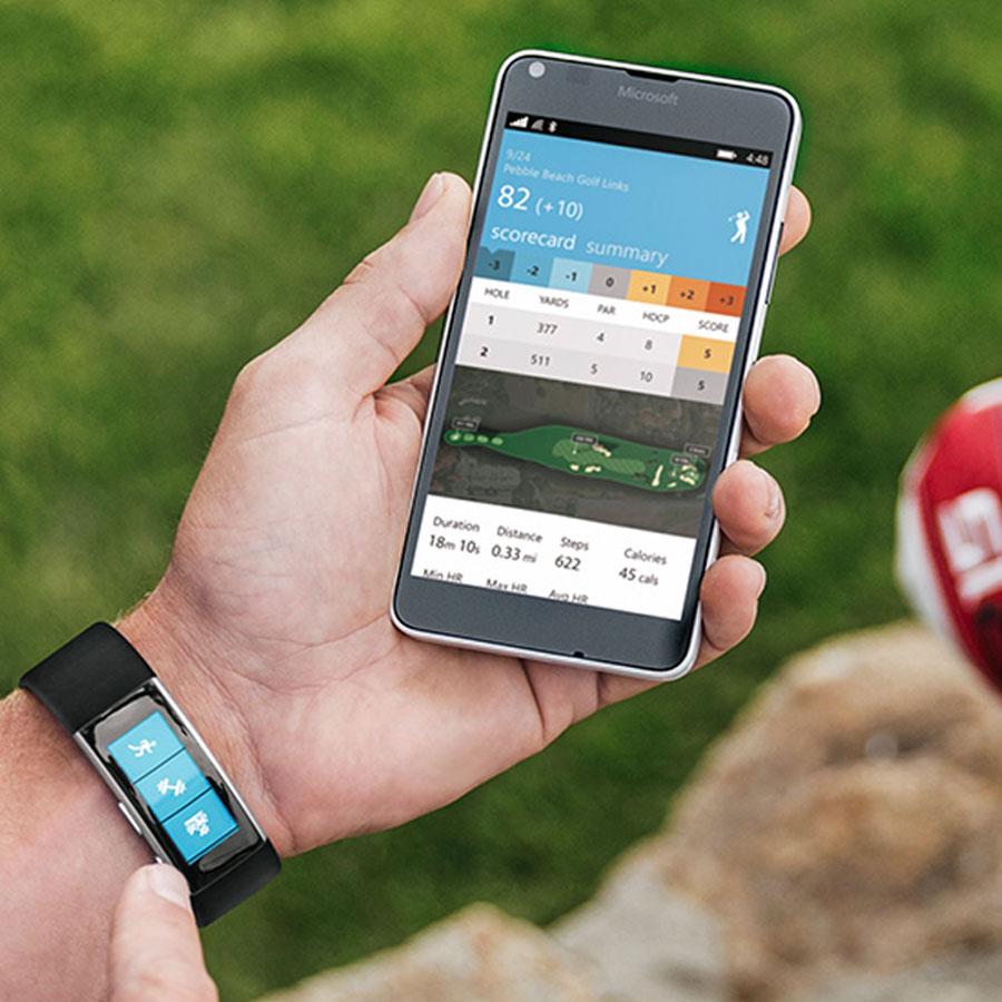 Microsoft band taylormade golf